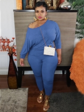 Casual Fashion Plus Size Solid Trouser Set
