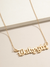 Simple Fashion Letter Easy Matching Necklace