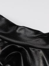 Fashion Ruffled Black Long Sleeve Dress