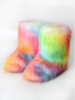 Chic Faux Fur Women Winter Boots