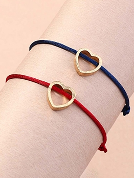 Hand-Woven Simple Heart Bracelet