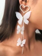 Unique Romantic Temperament Butterfly Long Earrings