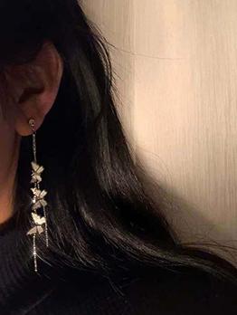 Trendy Online Butterfly Long Tassel Earrings