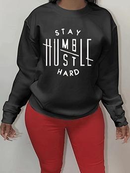 Simple Design Style Ladies Oversized Sweatshirt