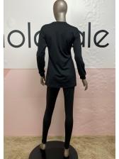 Minimalist Bright Color Two Piece Activewear