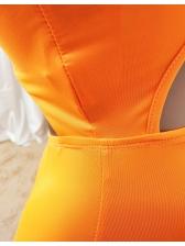 Single Strap Sleeveless Sport Romper Solid Color