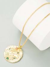 Stylish Relief Zircon Simple Necklace