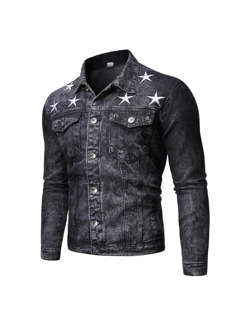 Street Star Denim Jacket For Men