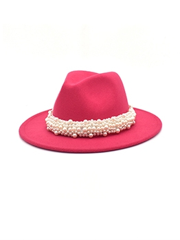 Faux-Pearl Easy Matching Fedora Hat