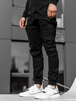 Fashion Solid Pencil Cargo Pants