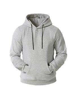 Casual Solid Pullover Hoodie Men