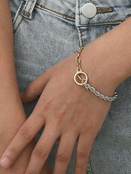 Simple Online Alloy Material Women Bracelet