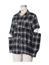Plaid Single Breasted Women Long Sleeve Shirts