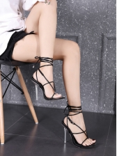 Roman Style Strappy Heeled Summer Sandals