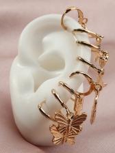 Temperament Butterfly Chic Heart Earrings