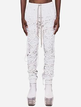 Boutique Drawstrings Lace Up Pants For Women