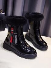 Faux Fur Patchwork Women\\\\\\\\\\\\\\\\\\\\\\\\\\\\\\\'s Snow Boots
