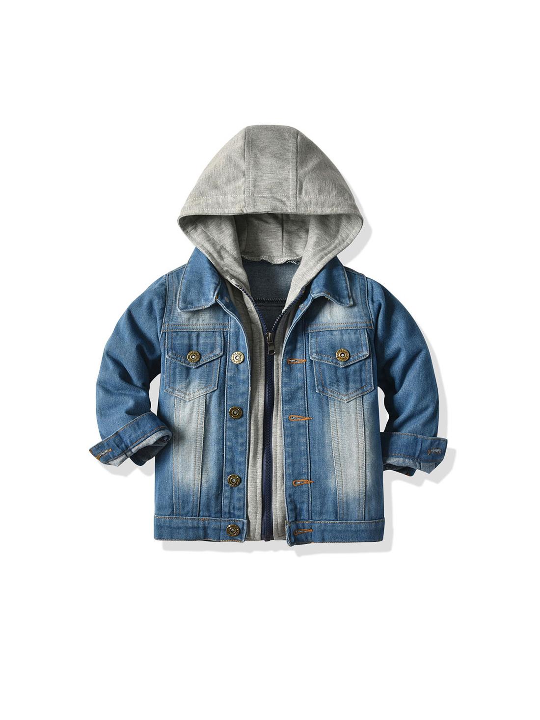 Chic Single-Breasted Boys Long Sleeve Kids Jacket