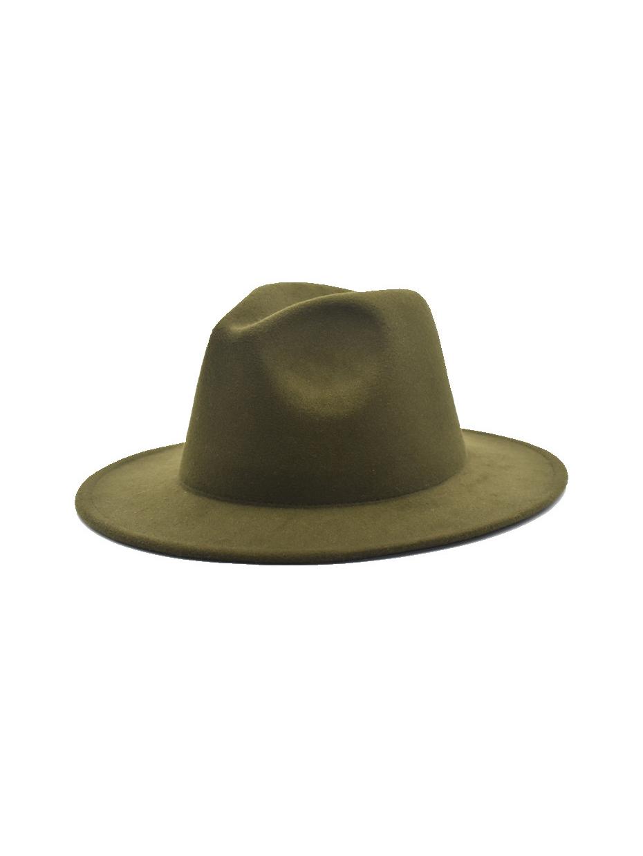 British Style Stage Solid Jazz Fedora Hat
