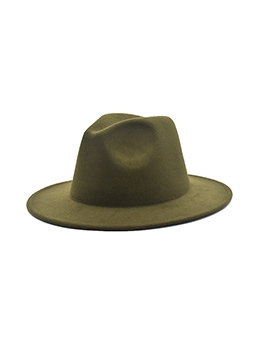 British Style Stage Solid Jazz Fedora Hat