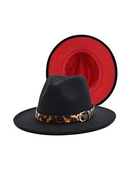 Elegant Shape Contrast Color Fedora Hat