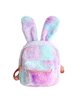 Rabbit Shaped Women Mini Furry Backpack