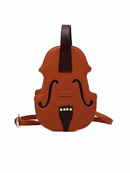 Fashion Colorblock Violin Shaped Backpack
