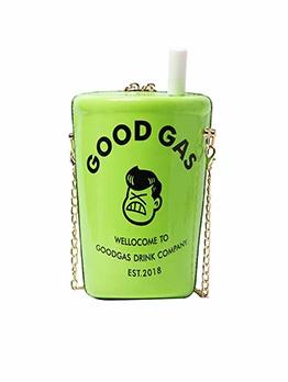 Cartoon Milk Tea Design Mini Crossbody Bag