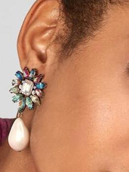 Fashion Street Snap Faux-Pearl Vintage Earrings