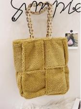 Large Capacity Furry Square Shoulder Bag For Ladies