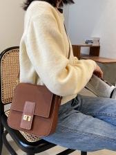 Easy Matching Twist Hasp Matting Crossbody Bag