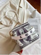Large Capacity Dollar Print Handbag For Women