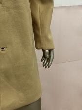 Minimalist Pure Color Cotton Long Winter Coats For Men