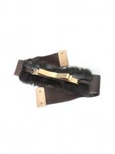 Korean Faux-Fur Plush Match Coat Belt