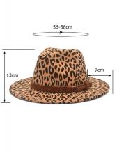 Leopard Print Spring Fall Fashion Fedora Hat