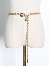 Chic Lack Pendant Thick Chain Belt