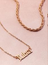 Simple Easy Match Leo Letter Pendant Necklace