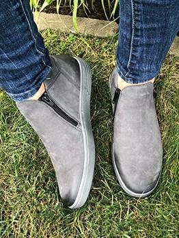 Euro Round Toe Flat Womens Boots