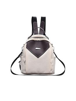 Contrast Color Zipper Backpacks For Women
