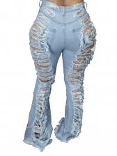 Sexy High Waist Distressed Bootcut Jeans
