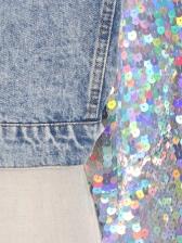 Sequined Sleeve Boutique Denim Jacket