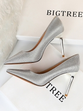 Gradient Color Pointed Toe Pumps Shoes