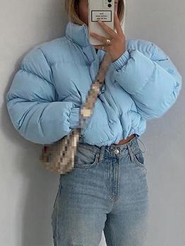 Stand Collar Thicken Short Down Coat