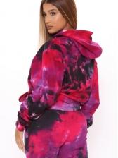 Winter Tie Dye 2 Piece Outfits For Women