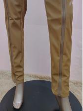 Stylish Zipper Up Skinny Leather Pants