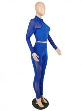 Gauze Patchwork High Waist Yoga Outfit
