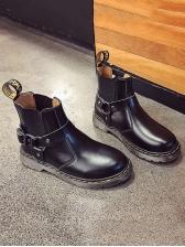Stylish Solid Flat Women Chelsea Boots