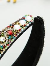 Glass Beads Street Ladies Hair Hoop