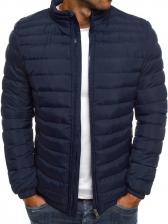 Casual Warmth Solid Winter Jacket Men