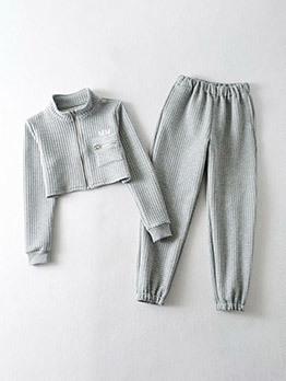 Casual Long Sleeve 2 Piece Pants Set